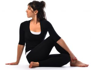 Matsyasana twist for immediate constipation relief